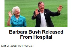 Barbara Bush Released From Hospital
