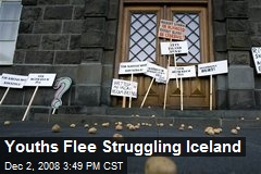 Youths Flee Struggling Iceland