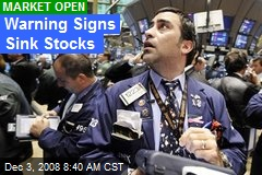 Warning Signs Sink Stocks