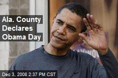 Ala. County Declares Obama Day