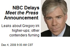 NBC Delays Meet the Press Announcement