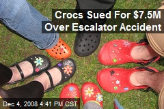 Crocs Sued For $7.5M Over Escalator Accident