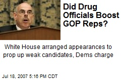Did Drug Officials Boost GOP Reps?