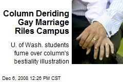 Column Deriding Gay Marriage Riles Campus