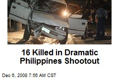 16 Killed in Dramatic Philippines Shootout