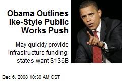 Obama Outlines Ike-Style Public Works Push