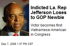 Indicted La. Rep Jefferson Loses to GOP Newbie