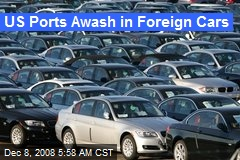 US Ports Awash in Foreign Cars