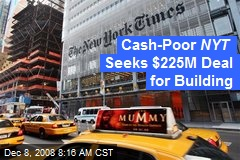 Cash-Poor NYT Seeks $225M Deal for Building