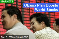 Obama Plan Boosts World Stocks