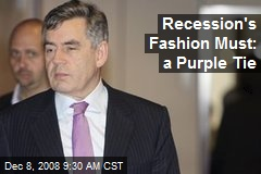 Recession's Fashion Must: a Purple Tie