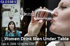 Women Drink Men Under Table