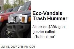Eco-Vandals Trash Hummer