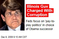 Illinois Guv Charged With Corruption