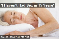 I haven t had sex in 3 years