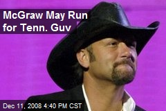 McGraw May Run for Tenn. Guv