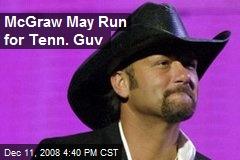 McGraw May Run for Tenn. Guv