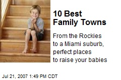 10 Best Family Towns