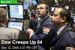 Dow Creeps Up 64
