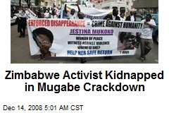 Zimbabwe Activist Kidnapped in Mugabe Crackdown