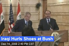 Iraqi Hurls Shoes at Bush