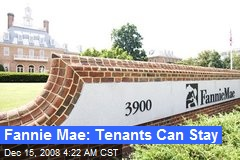 Fannie Mae: Tenants Can Stay