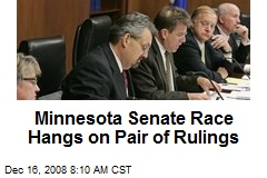 Minnesota Senate Race Hangs on Pair of Rulings