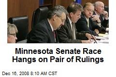 Minnesota Senate Race Hangs on Pair of Rulings