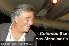 Columbo Star Has Alzheimer's