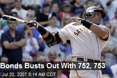 Bonds Busts Out With 752, 753