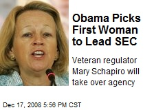 Obama Picks First Woman to Lead SEC