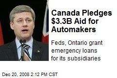 Canada Pledges $3.3B Aid for Automakers