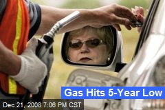 Gas Hits 5-Year Low