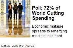 Poll: 72% of World Cutting Spending