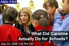 What Did Caroline Actually Do for Schools?