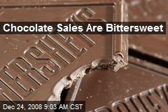 Chocolate Sales Are Bittersweet
