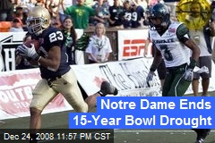 Notre Dame Ends 15-Year Bowl Drought