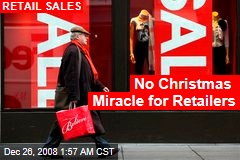 No Christmas Miracle for Retailers