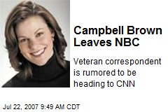 Campbell Brown Leaves NBC