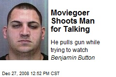 Moviegoer Shoots Man for Talking