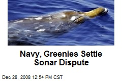 Navy, Greenies Settle Sonar Dispute