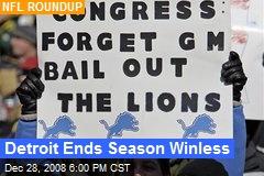 Detroit Ends Season Winless