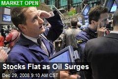 Stocks Flat as Oil Surges