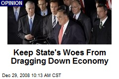 Keep State's Woes From Dragging Down Economy