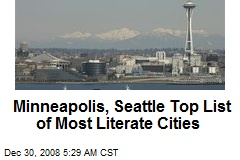 Minneapolis, Seattle Top List of Most Literate Cities