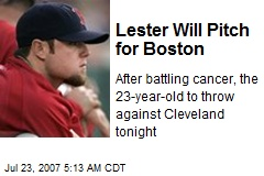 Lester Will Pitch for Boston