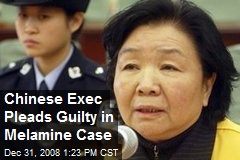 Chinese Exec Pleads Guilty in Melamine Case