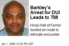Barkley's Arrest for DUI Leads to TMI