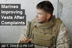 Marines Improving Vests After Complaints