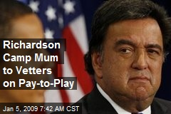 Richardson Camp Mum to Vetters on Pay-to-Play